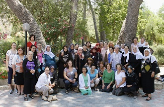 A group photo of women in the Eco-gathering