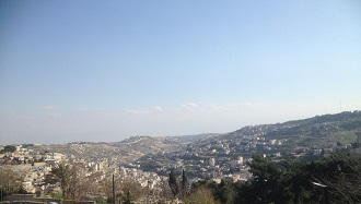 Jerusalem Hills from ICSD office