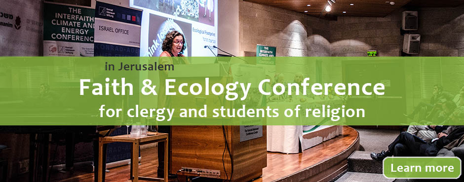 ICSD Faith and Ecology Conference Jerusalem 10.22.2014 Register banner